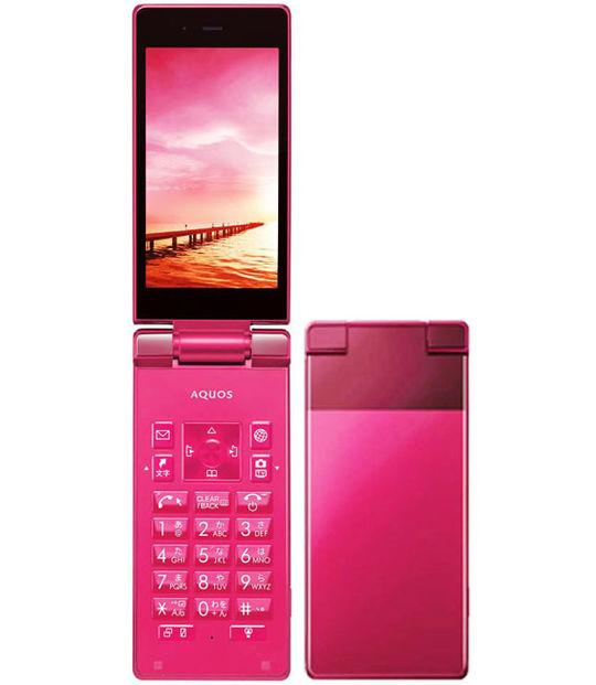 【中古】【安心保証】 Y!mobile AQUOS ケータイ 504SH レッド