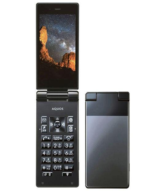 【中古】【安心保証】 Y!mobile AQUOS ケータイ 504SH ブラック