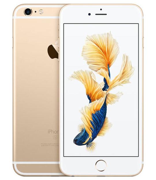【中古】【安心保証】 au iPhone6sPlus 128GB ゴールド SIMロック解除済