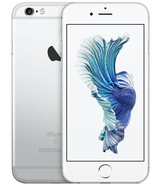 【中古】【安心保証】 au iPhone6s 128GB シルバー SIMロック解除済
