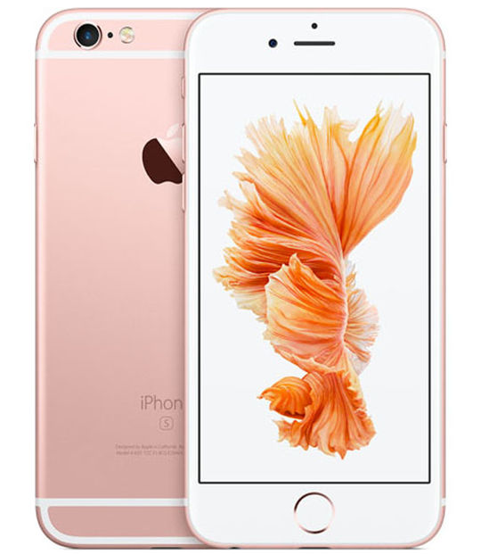 【中古】【安心保証】 au iPhone6s 128GB ローズゴールド SIMロック解除済
