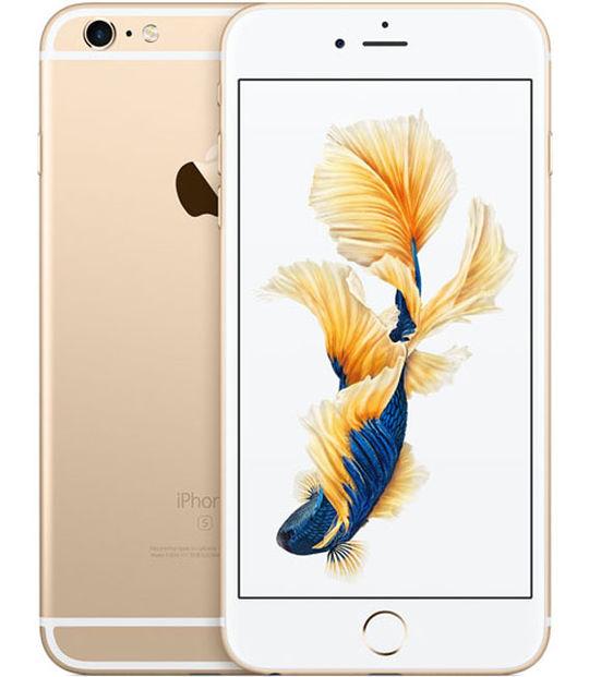 【中古】【安心保証】 au iPhone6sPlus 64GB ゴールド SIMロック解除済