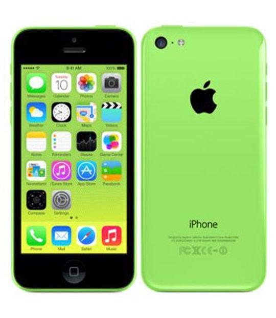 【中古】【安心保証】 au iPhone5c[16GB-a] グリーン