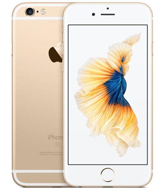 【中古】【安心保証】 au iPhone6s 128GB ゴールド SIMロック解除済