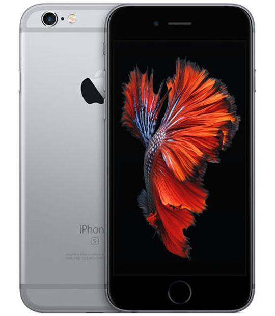 【中古】【安心保証】 au iPhone6s[64G] スペースグレイ SIMロック解除済