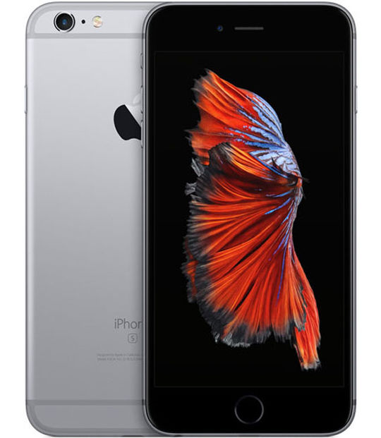 【中古】【安心保証】 SIMフリー iPhone6sPlus[128] グレイ