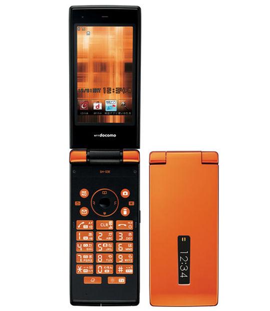【中古】【安心保証】 docomo SH-03E オレンジ
