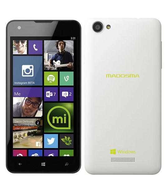 【中古】【安心保証】 SIMフリー MADOSMA Q501[8GB] パールホワイト