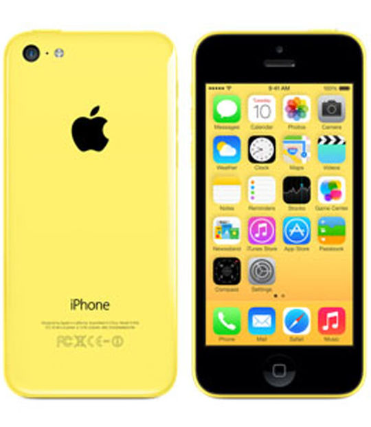 【中古】【安心保証】 au iPhone5c[16GB-a] イエロー