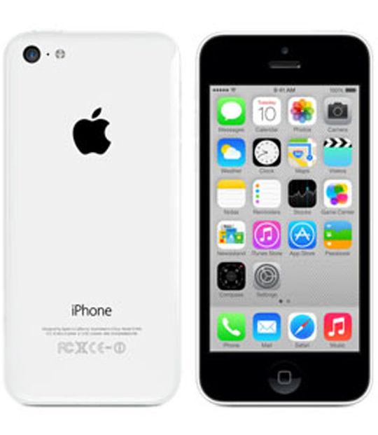 【中古】【安心保証】 au iPhone5c[32GB-a] ホワイト