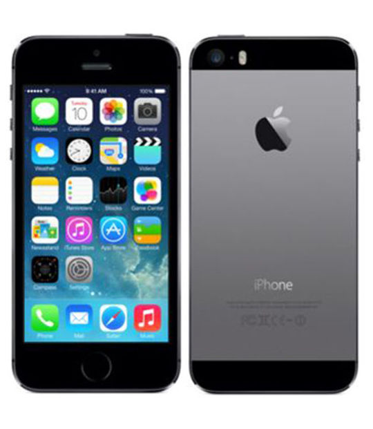 【中古】【安心保証】 au iPhone5s[64G] スペースグレイ