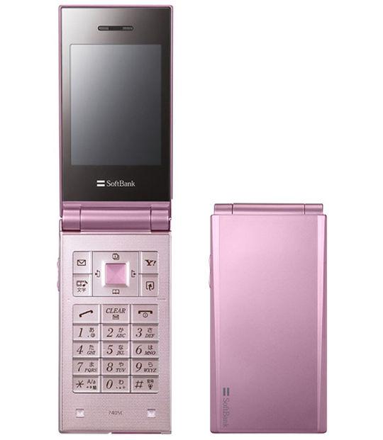 【中古】【安心保証】 SoftBank 740SC ピンク