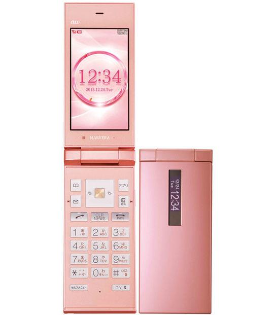 【中古】【安心保証】 au KYY08 ピンク