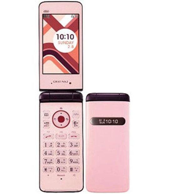 【中古】【安心保証】 au KYY10 ピンク