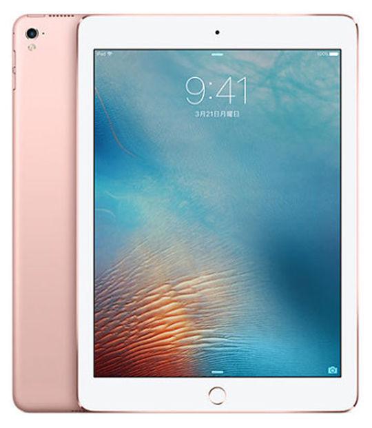 【中古】【安心保証】 au iPadPro 1ー9.7[セルラー32G] ローズ