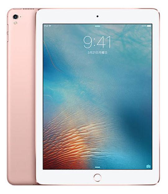 【中古】【安心保証】 au iPadPro 1ー9.7[セルラー128G] ローズ