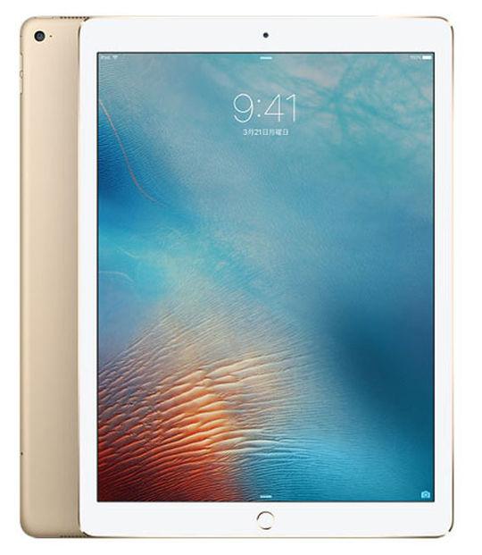 【中古】【安心保証】 SoftBank iPadPro 1ー12.9[セルラー256G] ゴールド