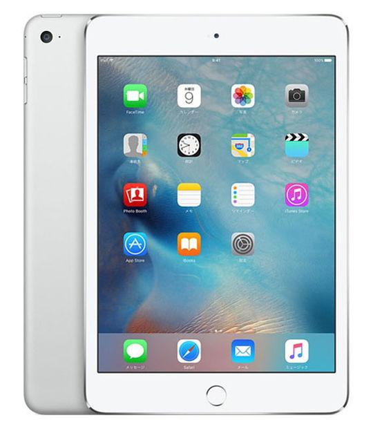 【中古】【安心保証】 SoftBank iPadmini4[セルラー128G] シルバー