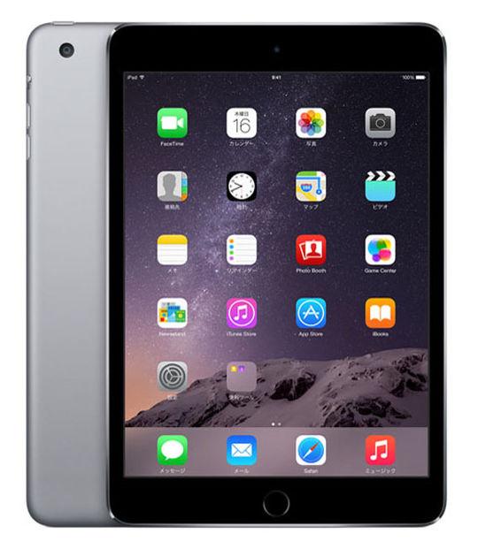 iPadmini3 WiFi+4G 16GB(スペースグレイ)