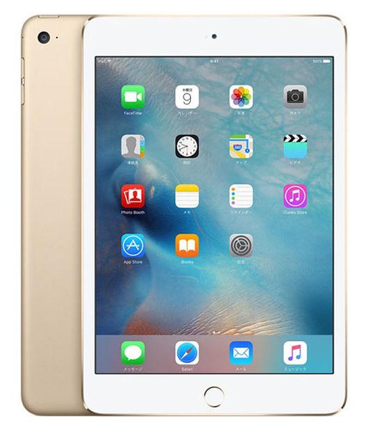 【中古】【安心保証】 SIMフリー iPadmini4[128G] ゴールド