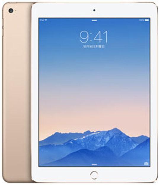 【中古】【安心保証】 au iPadAir 2[4G64GB] ゴールド
