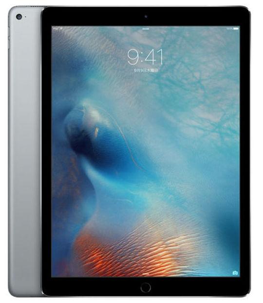 【中古】【安心保証】 SoftBank 12.9iPadPro_1[セルラー128G] グレイ