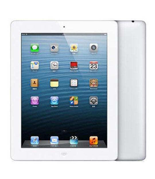 【中古】【安心保証】 au iPadRetina_4[セルラー128GB] ホワイト