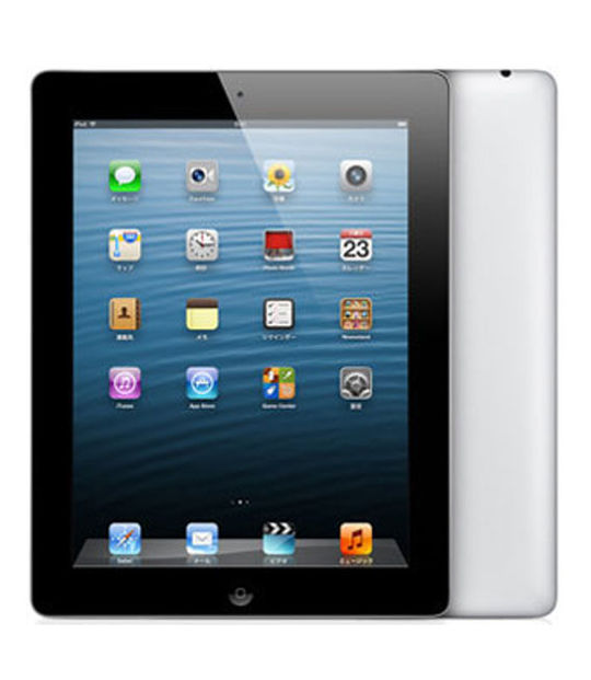 【中古】【安心保証】 au iPadRetina_4[セルラー128GB] ブラック