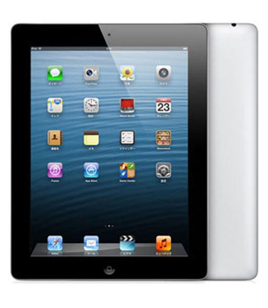 【中古】【安心保証】 au iPadRetina 4[セルラー64GB] ブラック