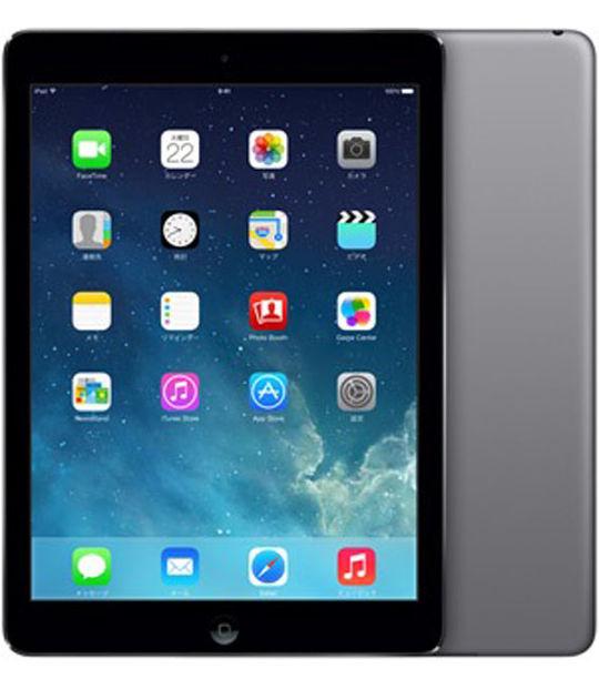 【中古】【安心保証】 au iPadAir 1[セルラー16G] グレイ