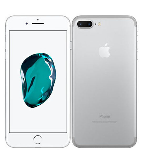【中古】【安心保証】 SIMフリー iPhone7Plus[128G] シルバー