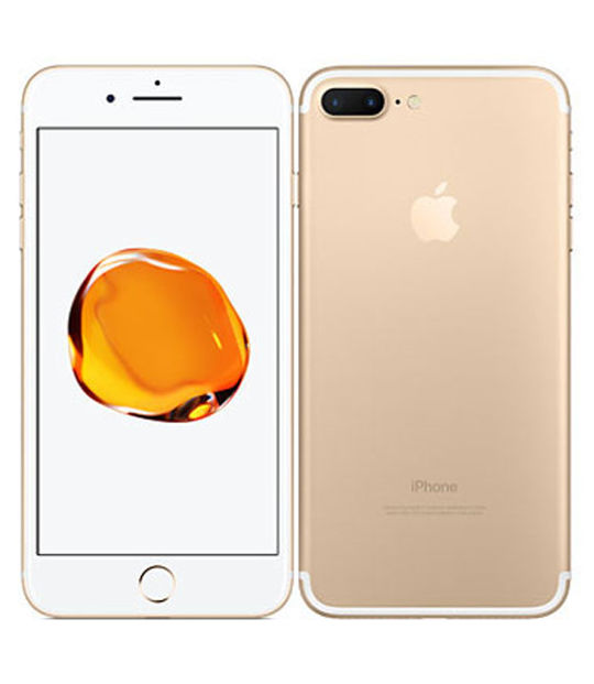【中古】【安心保証】 SIMフリー iPhone7Plus[128G] ゴールド