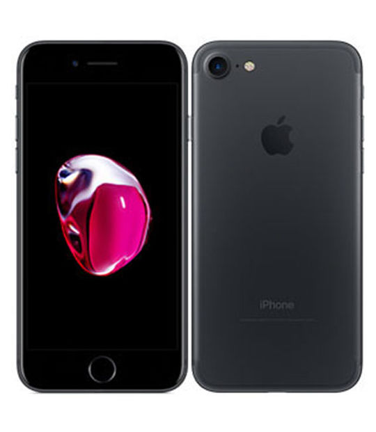 【中古】【安心保証】 au iPhone7 32GB ブラック