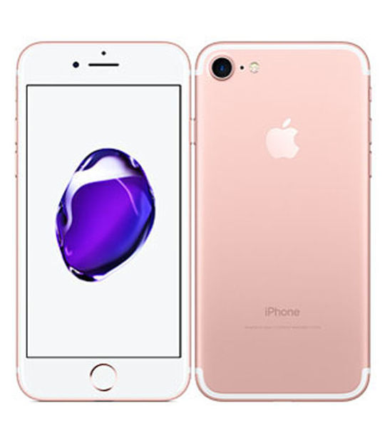 【中古】【安心保証】 au iPhone7 128GB ローズゴールド SIMロック解除済