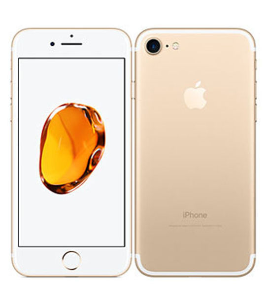 【中古】【安心保証】 au iPhone7 256GB ゴールド SIMロック解除済