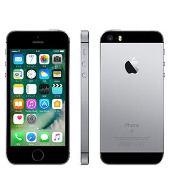 【中古】【安心保証】 SIMフリー iPhoneSE[64GB] スペースグレイ