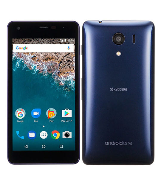 【中古】【安心保証】 Y!mobile Android One S2 ネイビー