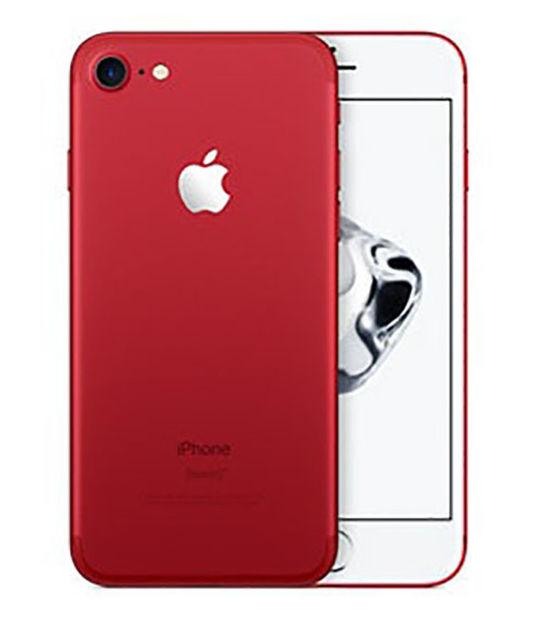 【中古】【安心保証】 au iPhone7[128G] レッド SIMロック解除済