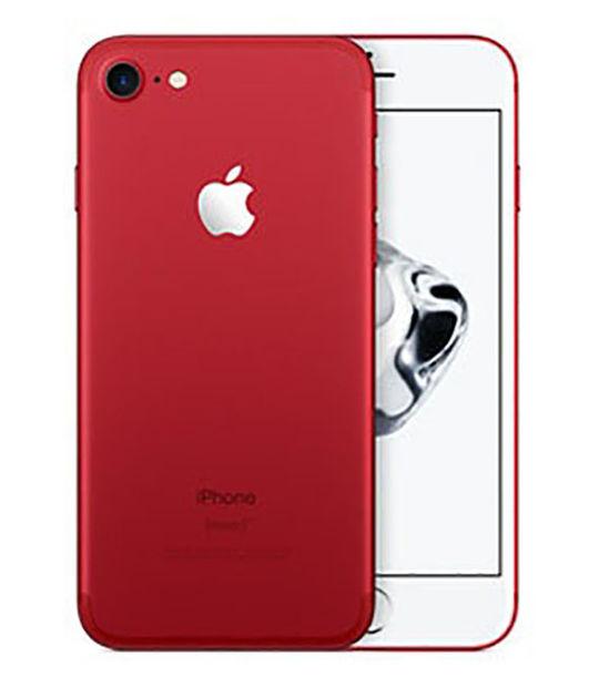 【中古】【安心保証】 SoftBank iPhone7[128GB] レッド