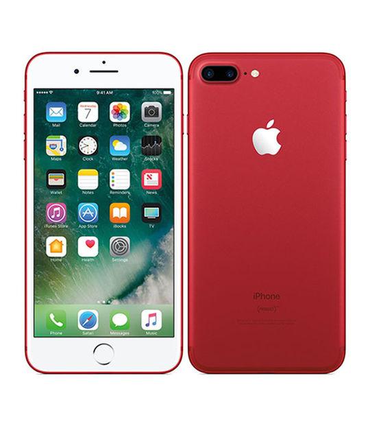 【中古】【安心保証】 au iPhone7Plus[128G] レッド SIMロック解除済
