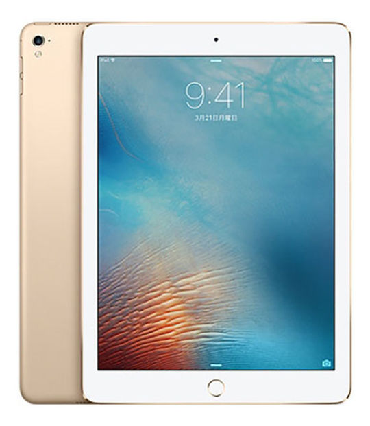 【中古】【安心保証】 SoftBank 9.7iPad 5[セルラー32G] ゴールド