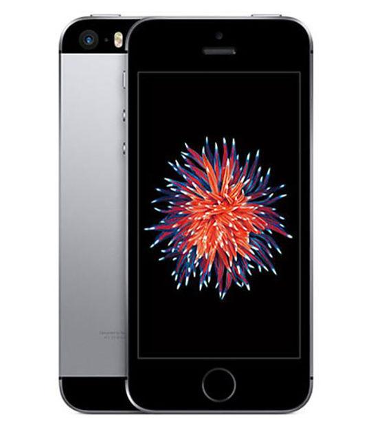 【中古】【安心保証】 UQモバイル iPhoneSE[32G] スペースグレイ