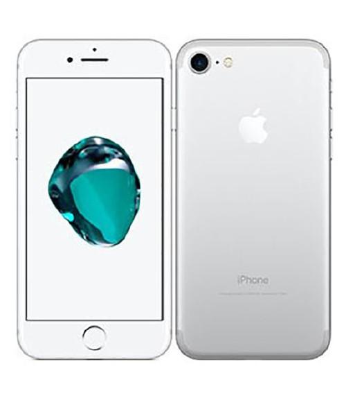 【中古】【安心保証】 au iPhone7 128GB シルバー SIMロック解除済