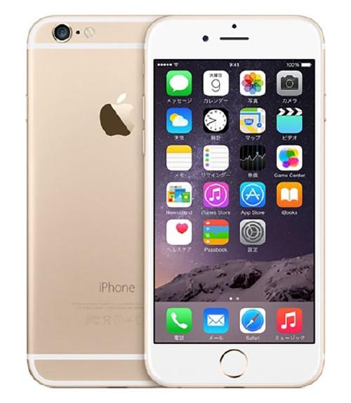 【中古】【安心保証】 SIMフリー iPhone6[海外128GB] ゴールド