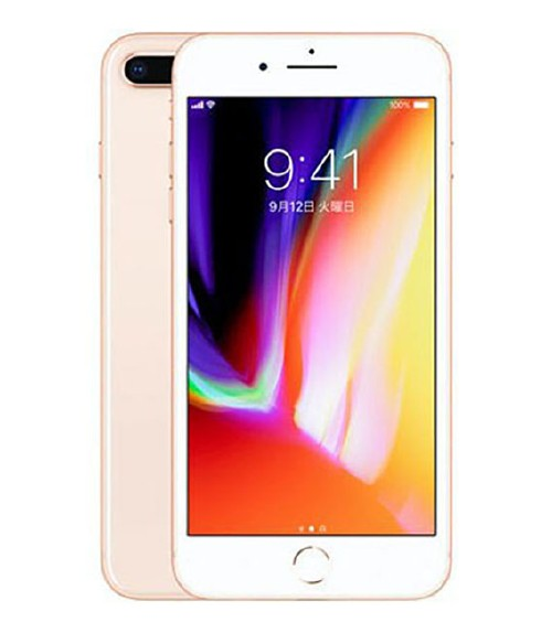 【中古】【安心保証】 au iPhone8Plus[256GB] ゴールド