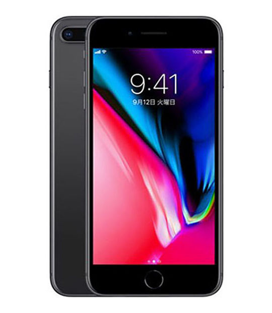 【中古】【安心保証】 docomo iPhone8Plus[64G] スペースグレイ