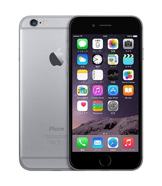 【中古】【安心保証】 SIMフリー iPhone6[海外6G] スペースグレイ
