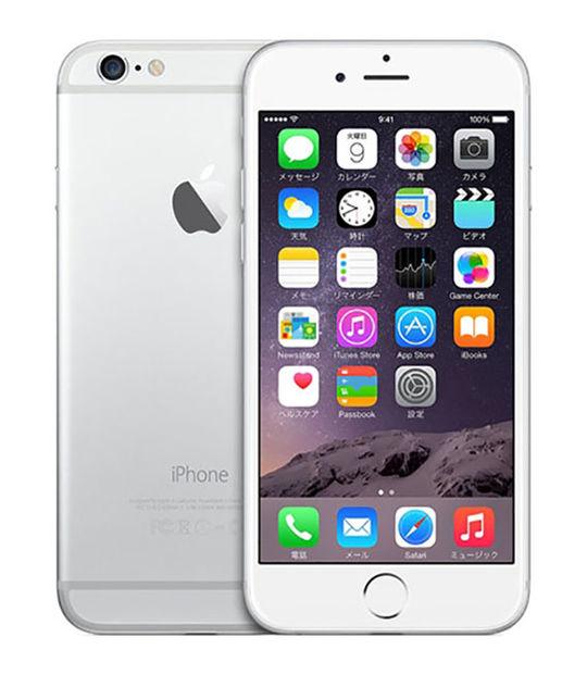 【中古】【安心保証】 docomo iPhone6 128GB シルバー SIMロック解除済