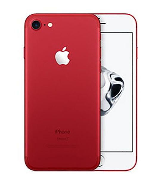 【中古】【安心保証】 au iPhone7 128GB レッド SIMロック解除済