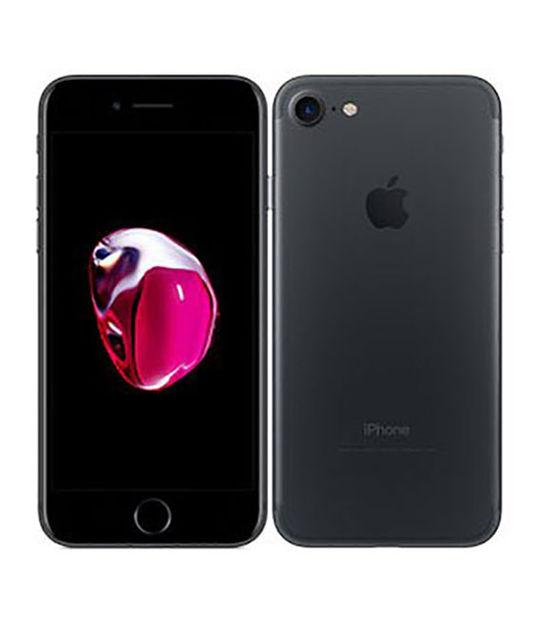 【中古】【安心保証】 au iPhone7 128GB ブラック SIMロック解除済